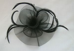 Black Hair Fascinator | Masks and Tiaras